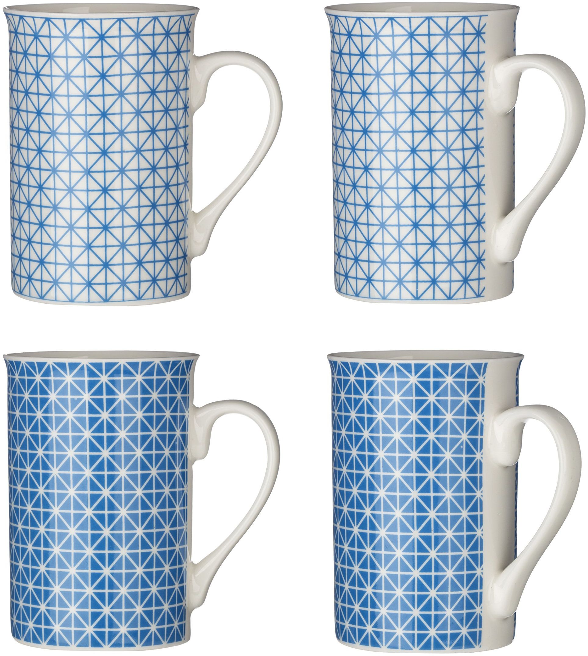 Premier zestaw 4 filiżanek do maroku, 270 ml, niebieski, porcelana