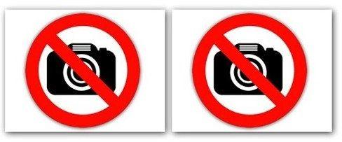 Naklejki zakaz fotografowania 2 sztuki nak45
