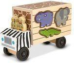 Drewniany sorter ciężarówka ratunkowa safari
