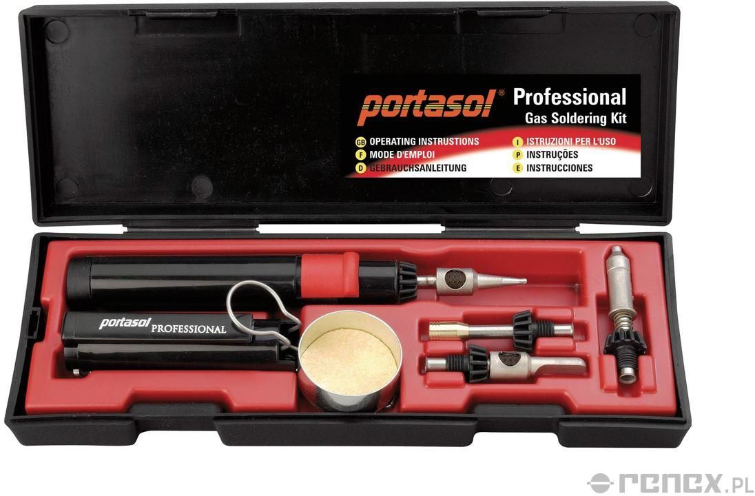 Lutownica gazowa PORTASOL PROFESSIONAL - Zestaw