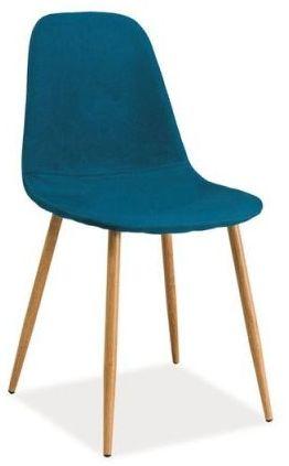 Krzesło FOX morskie tapicerowane do jadalni i salonu  KUP TERAZ - OTRZYMAJ RABAT