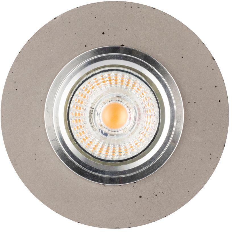 Spot Light 2511136 Vitar Round oprawa wpuszczana okrągła oczko sufitowe1xLED GU10 5W 320lm 2700K Szary/Chrom 10cm