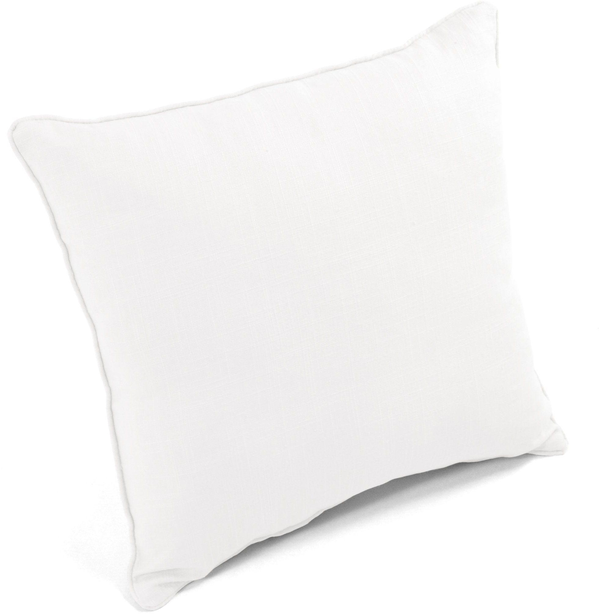 Homemaison poduszka lniana, 45 x 45 cm, biała