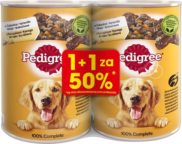 Pedigree z kuczakiem w galaretce 2x400g