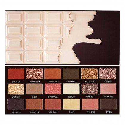 Makeup Revolution Chocolate Nudes paletka cieni do makijażu 22g