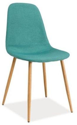 Krzesło FOX miętowe/dąb  Kupuj w Sprawdzonych sklepach