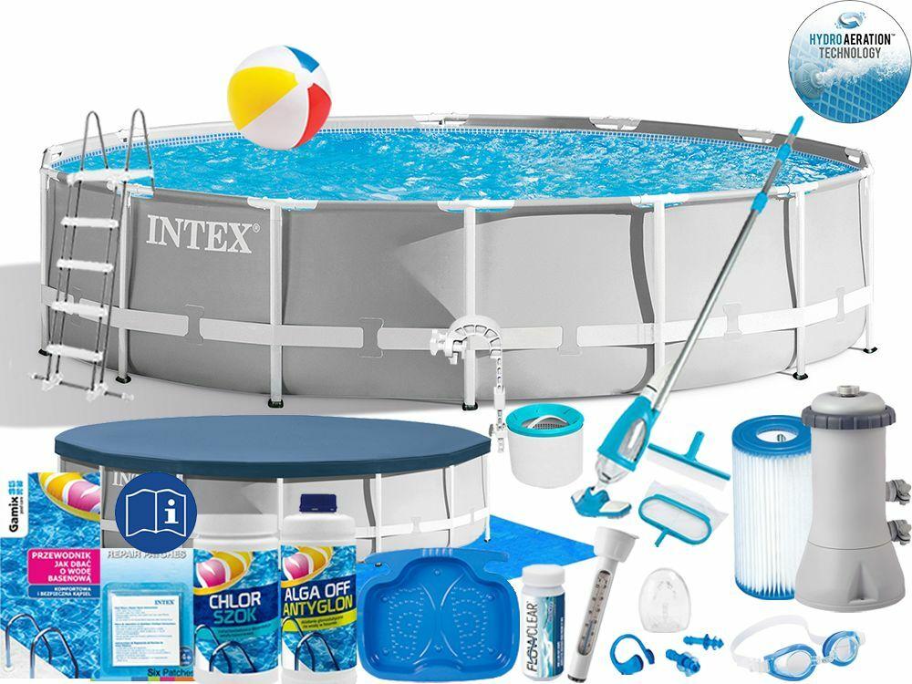 Basen Intex 427x107 Ogrodowy Stelażowy 26720 21w1