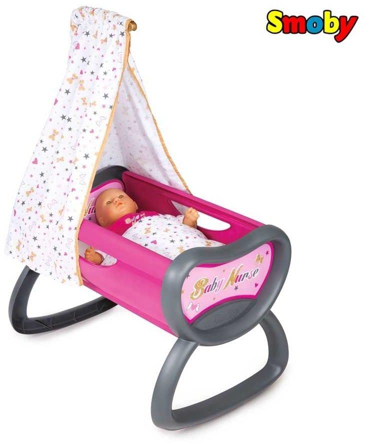 Smoby Baby Nurse - Kołyska z baldachimem 220311
