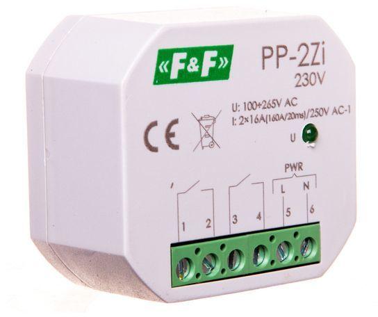 Przekaźnik elektromagnetyczny 2Z 16A 100-265V AC (160A/20ms) PP-2Zi-230V