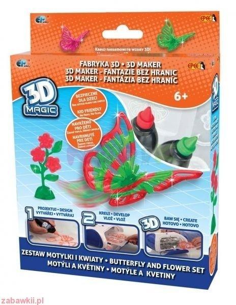 Zestaw Fabryka 3D Magic Epee (Motylki i Kwiaty)