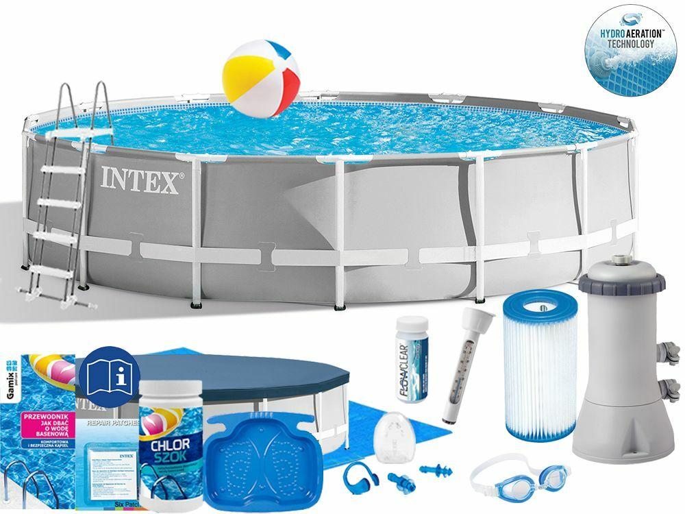 Basen Intex 427x107 Ogrodowy Stelażowy 26720 18w1