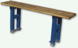 Kolorowa ławka parkowa Prosta