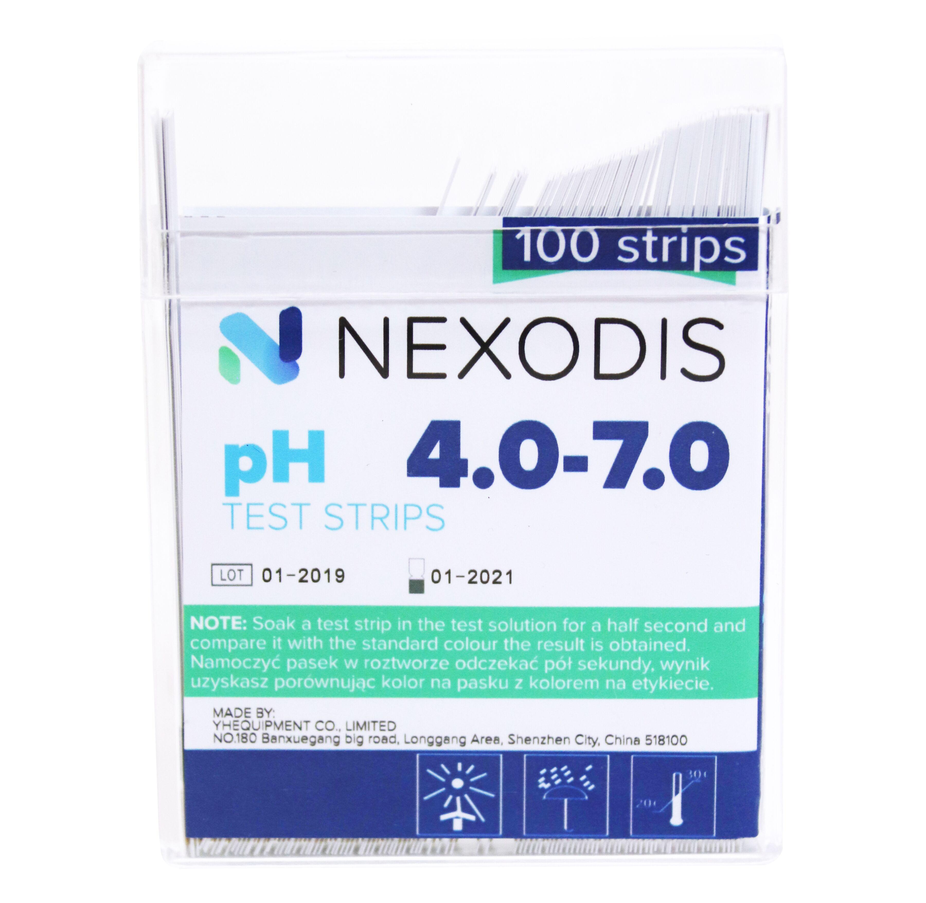Paski wskaźnikowe pH 4-7 NEXODIS