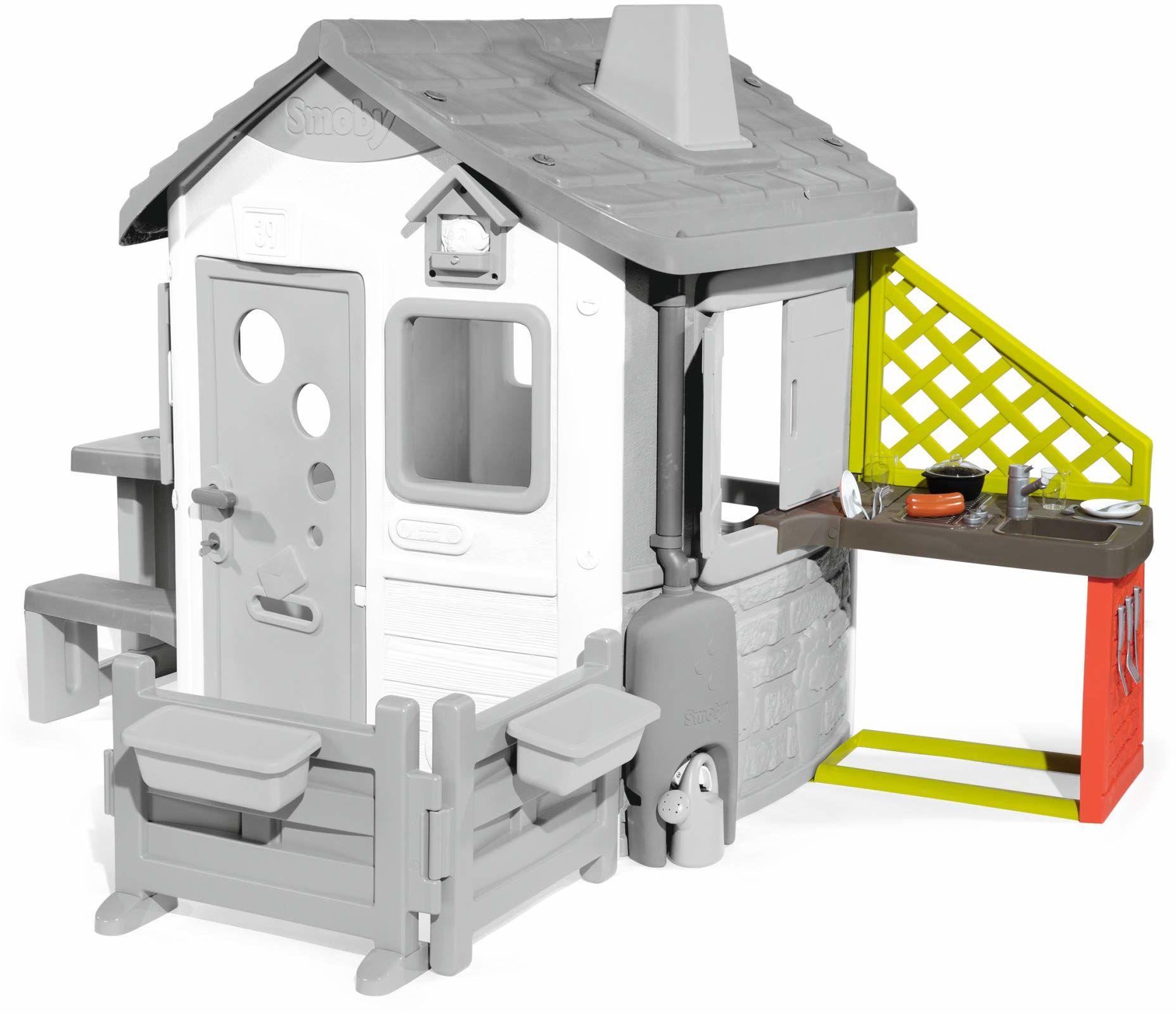 Smoby Smoby kuchnia do domków do zabawy w domu do zabawy, z wieloma akcesoriami, zlewozmywakiem, grillem, odporna na warunki atmosferyczne