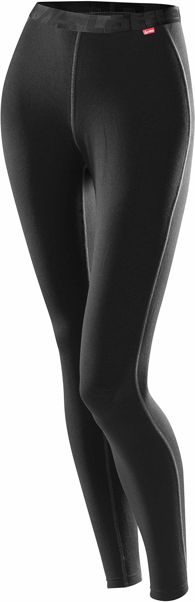 Löffler Damskie kalesony długie, Transtex ciepłe, czarne, 44