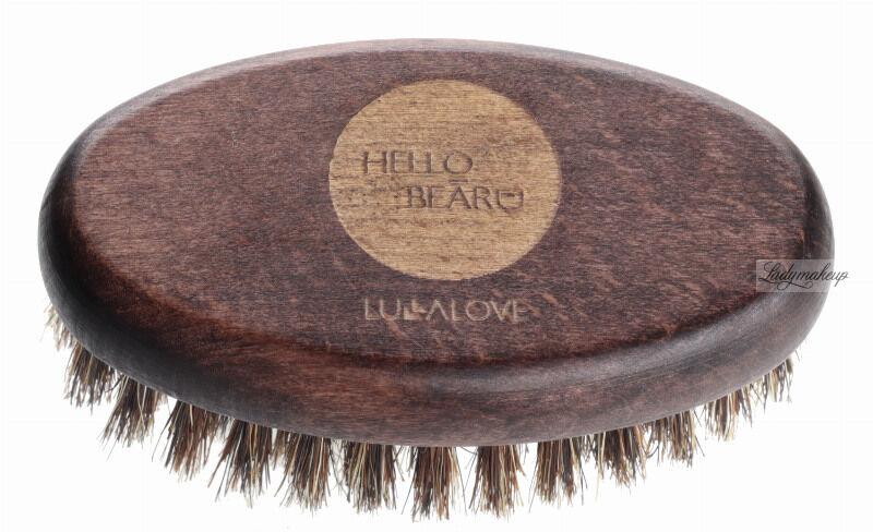 LULLALOVE - HELLO BEARD - Szczotka do brody i włosów - Kartacz - 100% włosie dzika