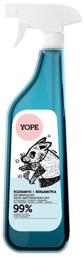YOPE Płyn antybakteryjny uniwersalny rozmaryn i bergamotka do czyszczenia i dezynfekcji 750 ml