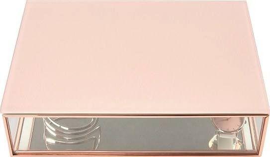 Szkatułka na biżuterię stackers duże różowa szklana