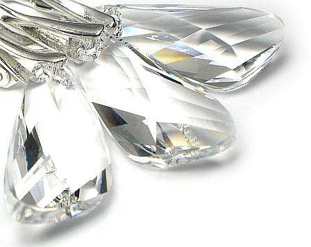 Komplet SWAROVSKI Crystal Wings CERTYFIKAT SREBRO