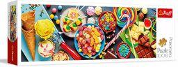Trefl Słodkie Przysmaki Puzzle Panoramiczne 1000 Elementów o Wysokiej Jakości Nadruku, od 12 lat