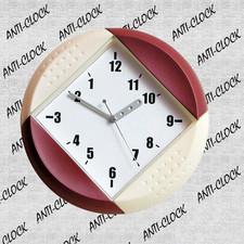 Anty-zegar ścienny kolorowy koło