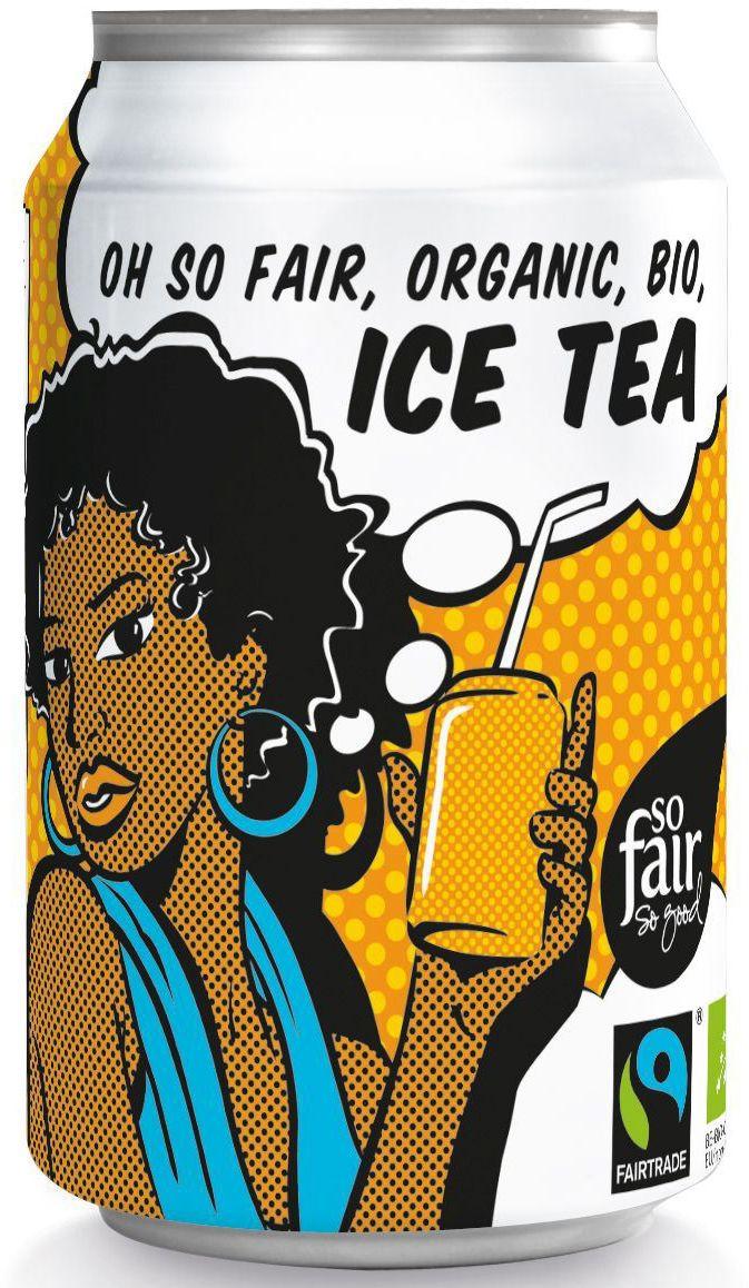Napój gazowany o smaku herbaty ice tea fair trade bio 330 ml puszka - oxfam