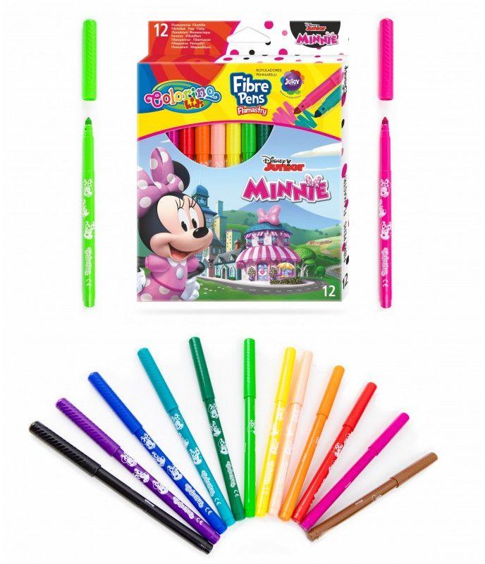 Flamastry 12 kolorów Minnie Colorino 6456-MINNIE-FLAMASTRY