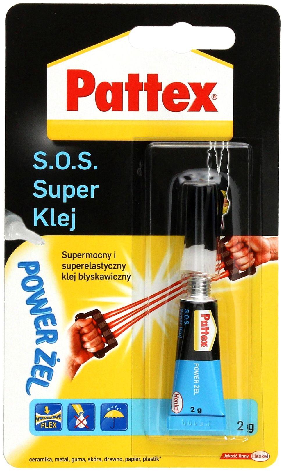 Klej żelowy 2g SOSSuper Pattex