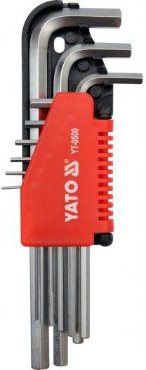 YT-0500 Klucze imbusowe hex, 1,5-10mm, 9 sztuk