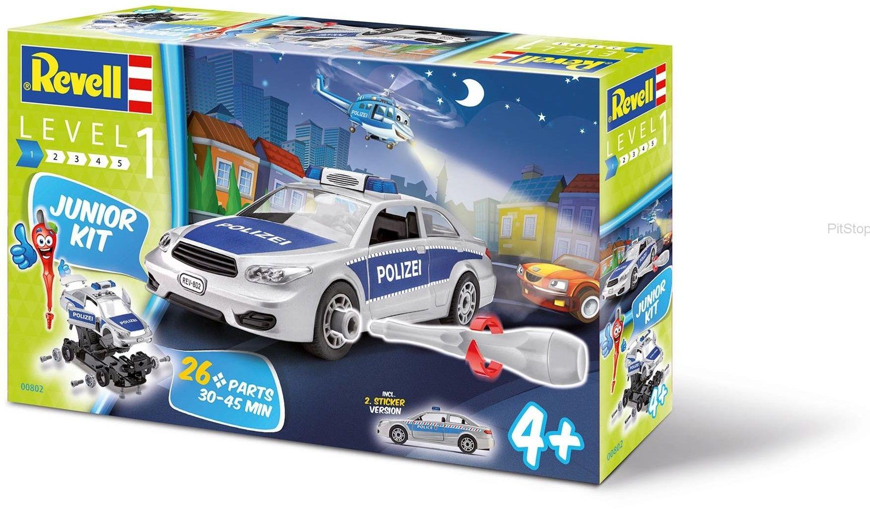 Revell - Junior Kit - Samochód policyjny