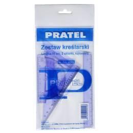 Zestaw kreślarski PRATEL z linijką 16cm - X00431