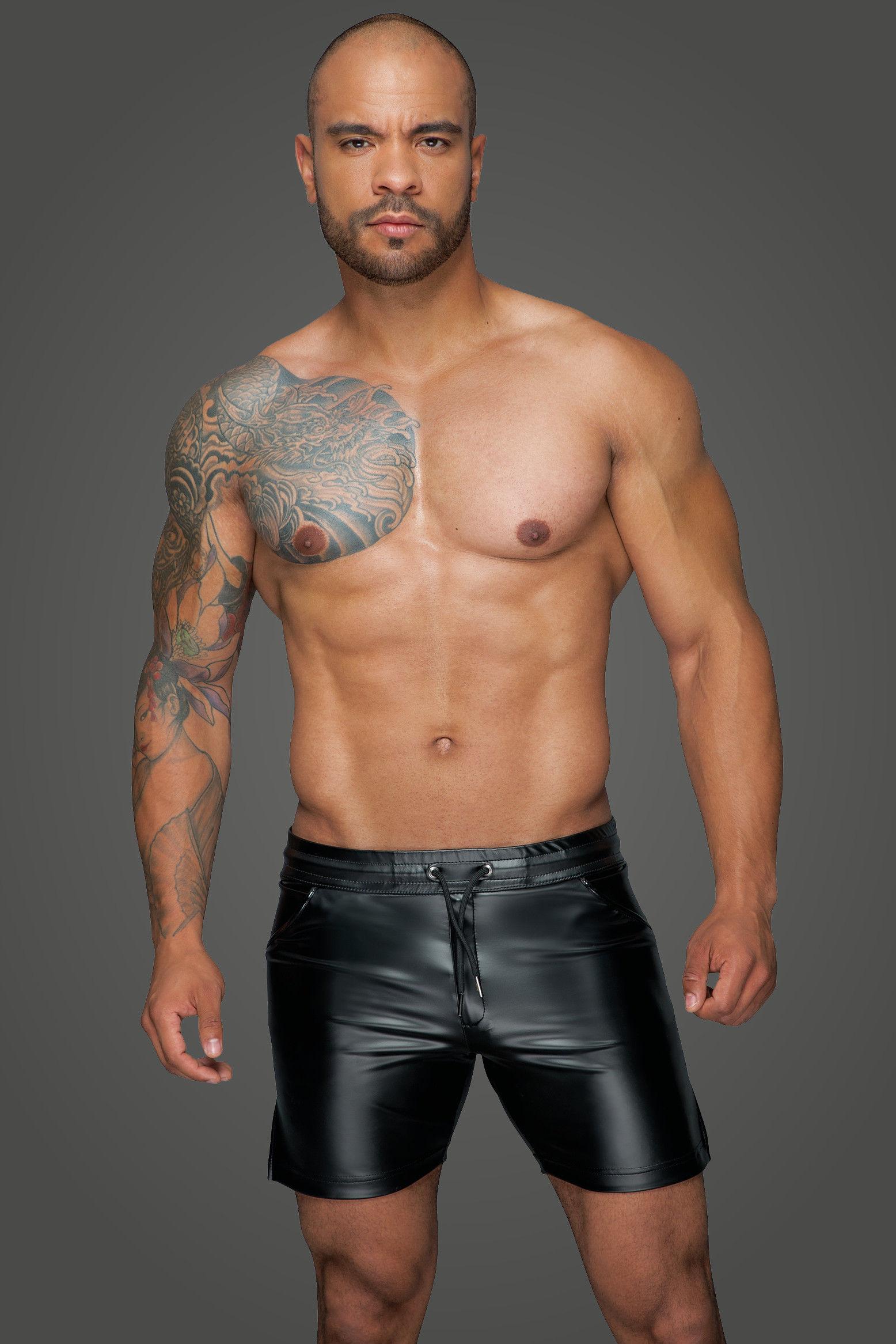 Noir Handmade H061 Powerwetlook Shorts in Comfortable Length M