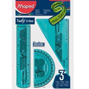 Zestaw linijek niełamliwych TWIST''N FLEX MAPED - X00985