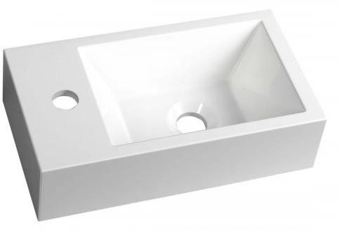 AMAROK umywalka 40x22 do zawieszenia/nablatowa kompozytowa lewa AR400