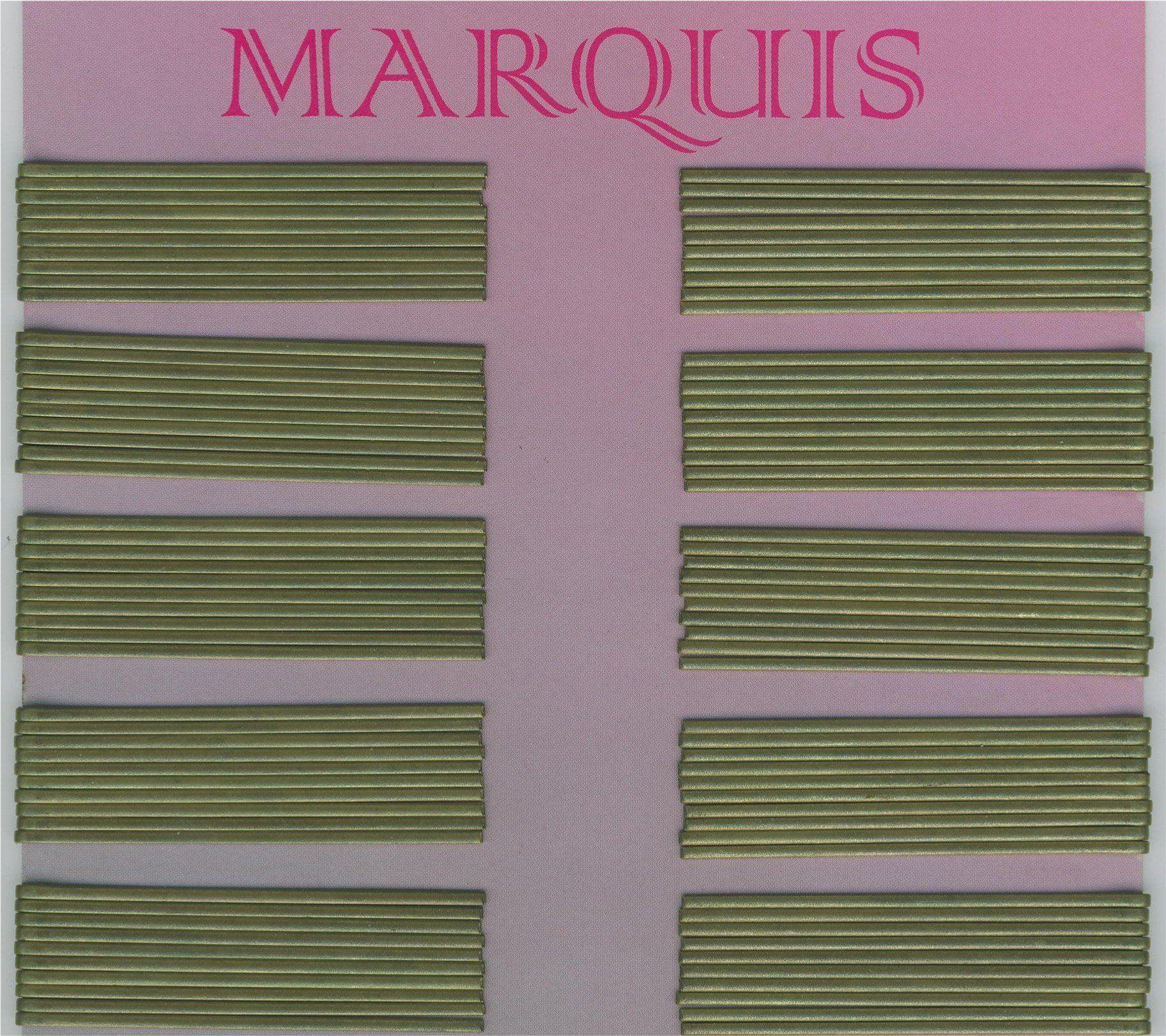 Efalock Marquis klips do włosów, 100 sztuk, długość 7 cm, złoty, 0,18 kg