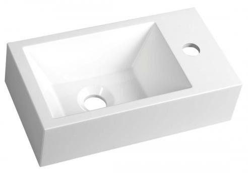 AMAROK umywalka 40x22 do zawieszenia/nablatowa kompozytowa prawa AR500