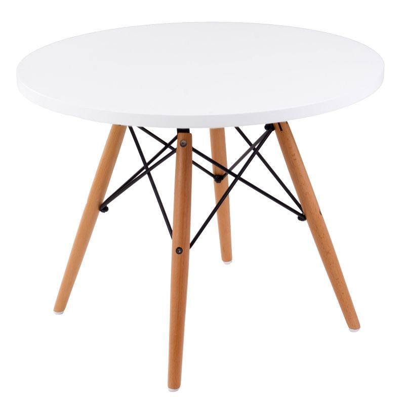 Stolik DTW 60 cm biały-naturalny