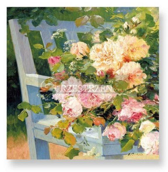 SERWETKI PAPIEROWE - Róże na ławce