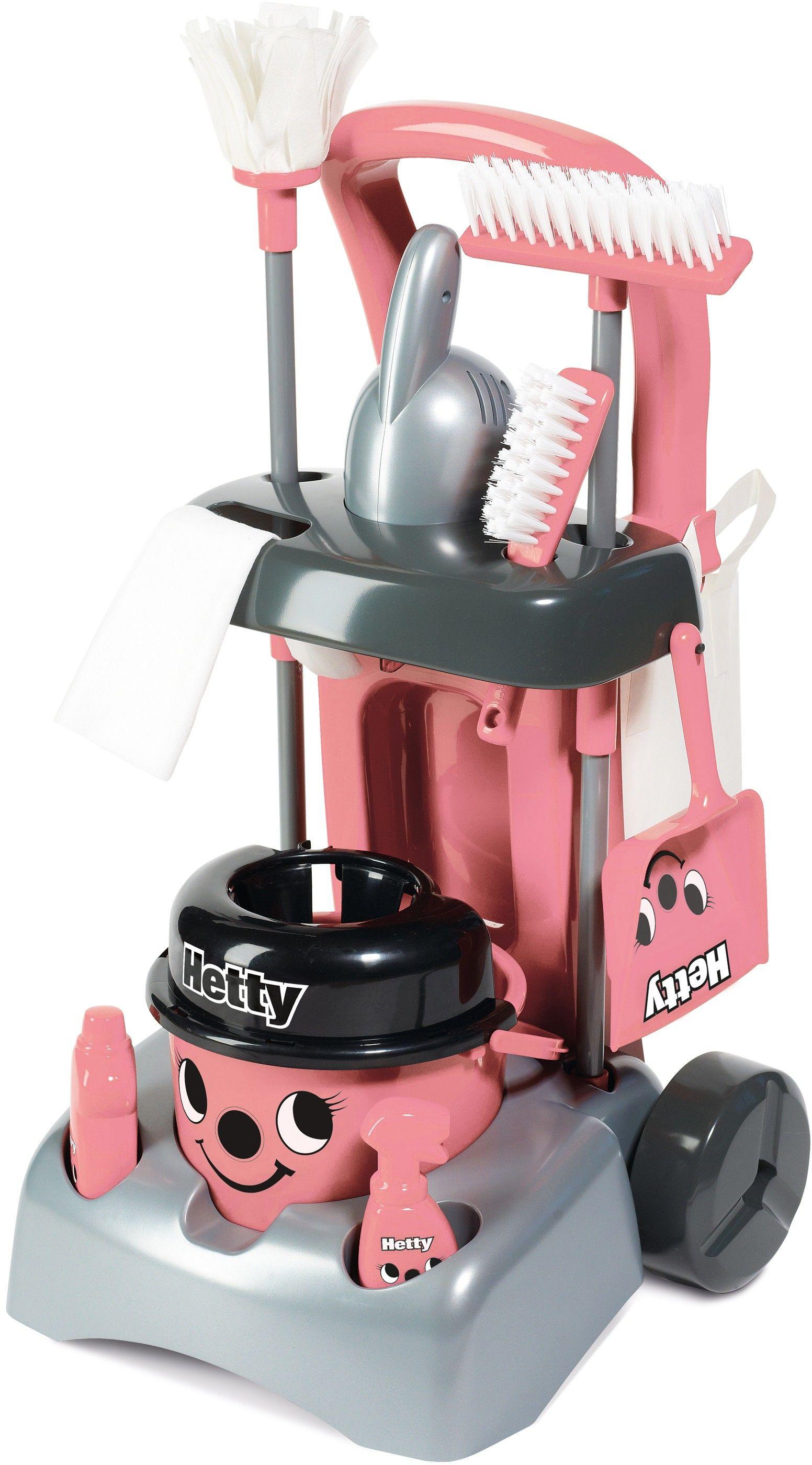 Zabawkowy wózek Hetty Deluxe z akcesoriami do sprzątania + GRATIS