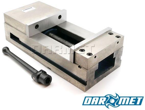 Imadło maszynowe stałe 200 mm z dociskiem szczęki poziomo - pionowe - FPQ 200/190