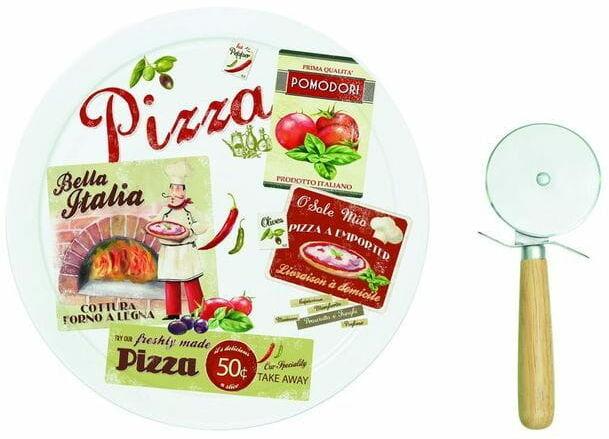 Easy Life/R2S, talerz do pizzy z nożem - Vintage