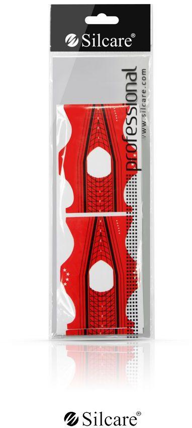 Formy do paznokci DS05 Czerwone dwustronne 10 szt.