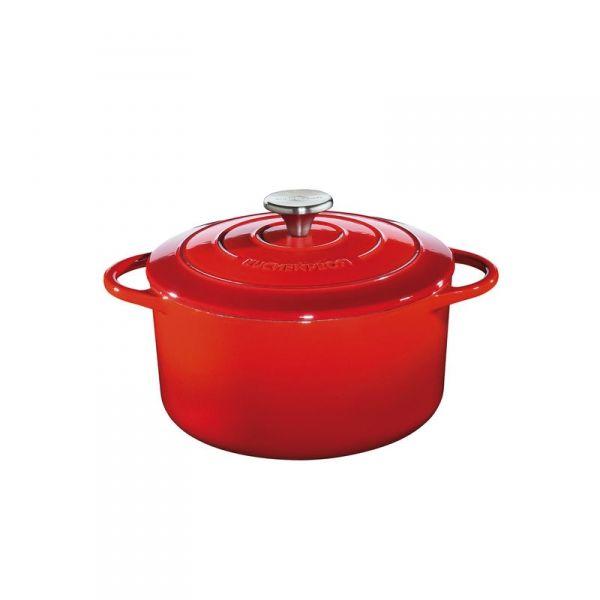 Küchenprofi PROVENCE Garnek Żeliwny z Pokrywką 24 cm Czerwony