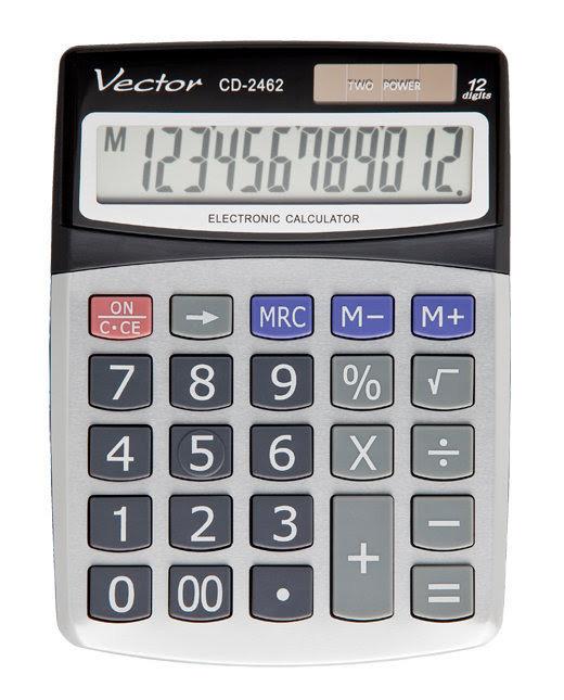 Kalkulator Vector CD-2462 - duże klawisze