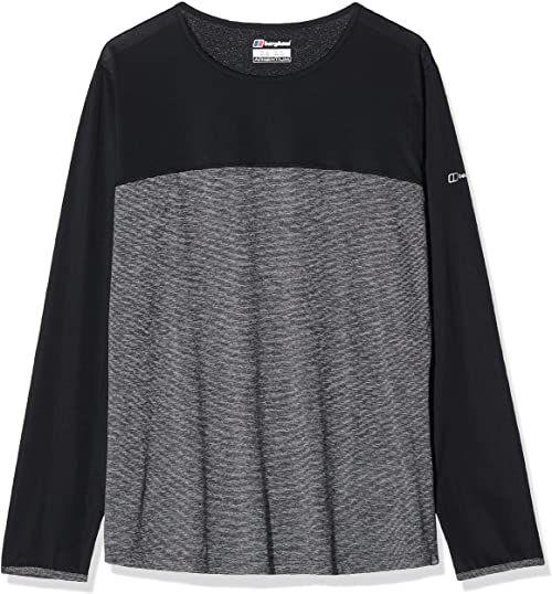 Berghaus koszulka damska Voyager z długim rękawem Tech Tee, Carbon Marl/Jet Black, 16