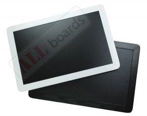 Tablica kredowa czarna 90x60 cm rama drewniana smartphone biała