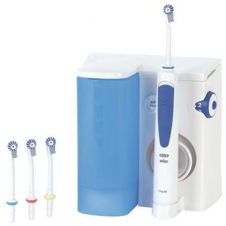 Irygator Braun OralB OxyJet MD20 + 4 dysze + płyn do płukania 500ml