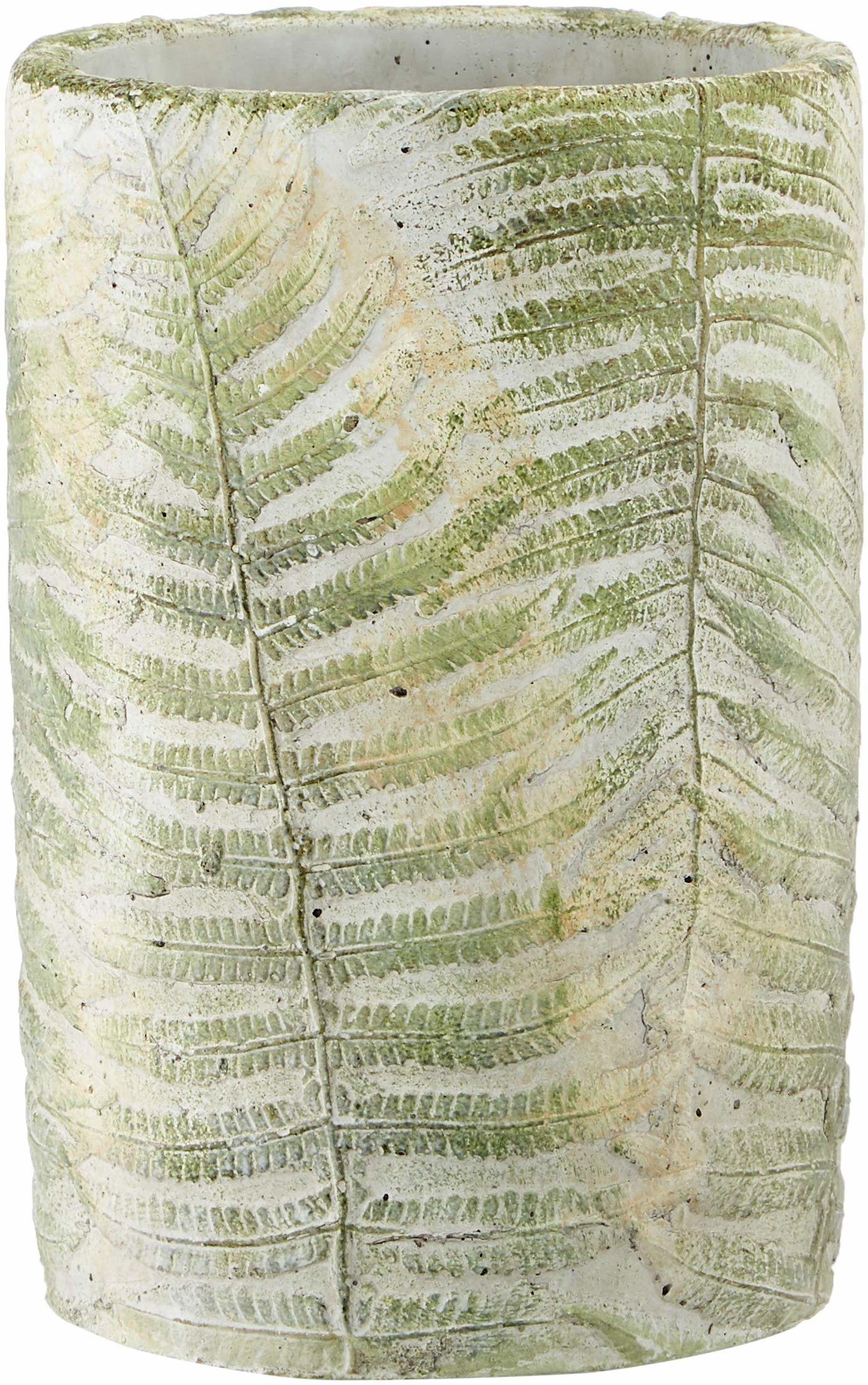 Homemania Wazon Leaf, dekoracyjny, na przedmioty, wielokolorowy, z betonu, 15 x 15 x 23 cm