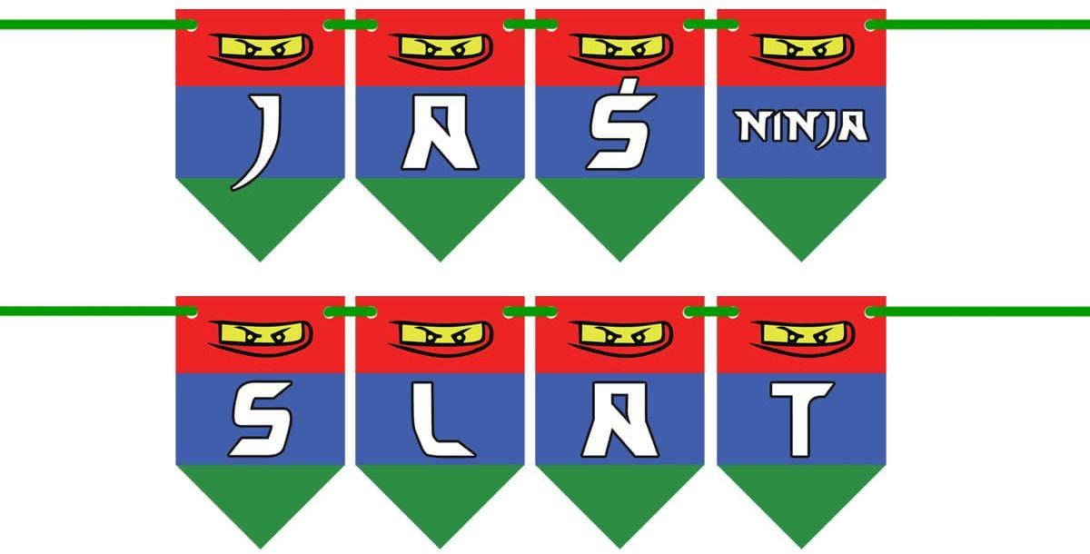 Baner flagi personalizowany Ninja - 300 cm