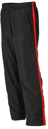 James & Nicholson Damskie spodnie sportowe Laufhosen damskie spodnie ciążowe Red (Black/Tomato) L